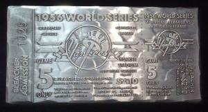 Aluminum silver ticket close