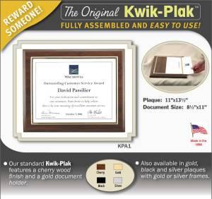Kwik plaque