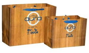 wood look bags